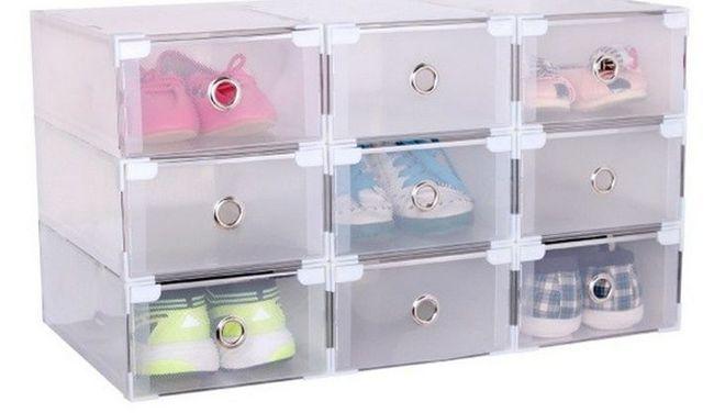 Priročno jasne plastične škatle