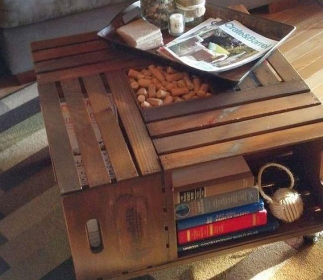 Privlačen kos pohištva iz rednega leseno škatlo