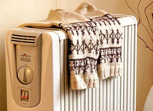 Nogavice na radiatorju
