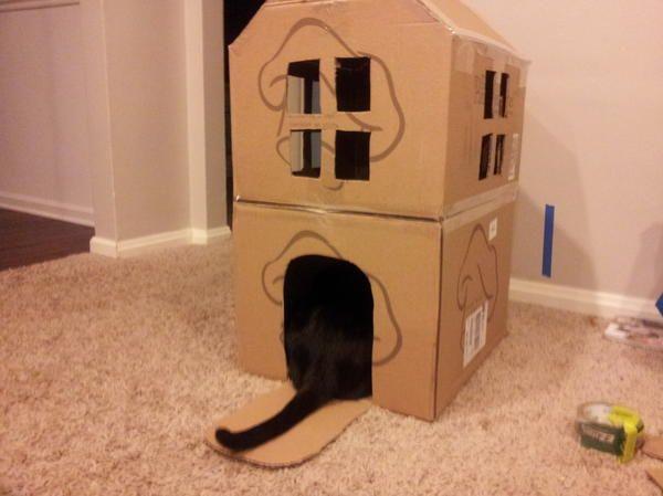 Двухэтажный домик из картона, фото с сайта http://sethstevenson.net