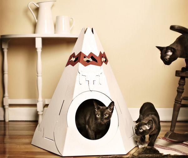 Вигвам для котиков, фото с сайта http://petsclan.com