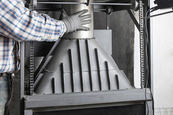Namestitev spodnje konice dimnika