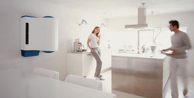 Kompakten plinski kotel za ogrevanje zasebnih hiš