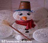 Kako narediti snežaka z rokami