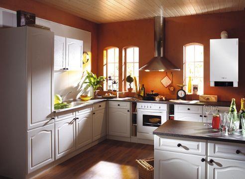 kondenzacijski kotel v kuhinji