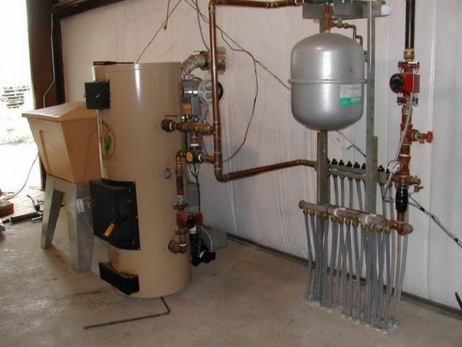 Kombinirani kotel za zasebne hiše priročno za redno menjavo goriva