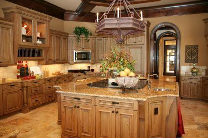 Leseno pohištvo v državi kuhinji
