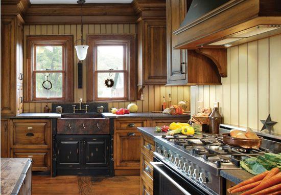 Država Kuhinja v lakiranega lesa