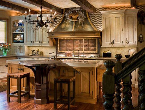 Okrogla miza v kuhinji notranjosti države