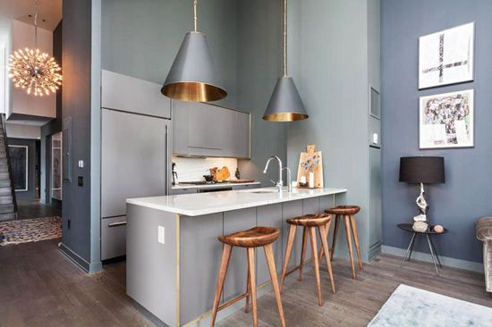 Kuhinja v odtenkih sive