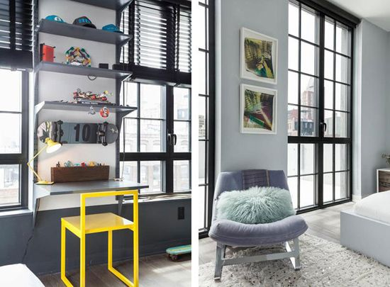 Delovni prostor in prostor za sedenje v spalnici