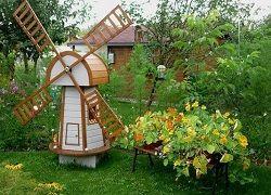 Мельница для сада: технология создания своими руками из фанеры