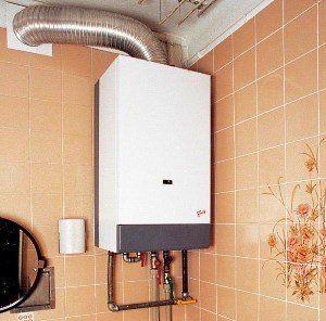plinski kotel na steno v kopalnici