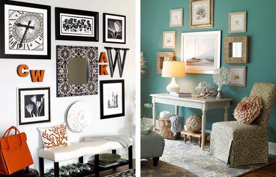 Zaključna in dekoracijo sten v dnevni sobi