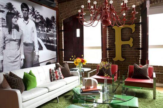 Oblikujte majhno dnevno sobo na podstrešju