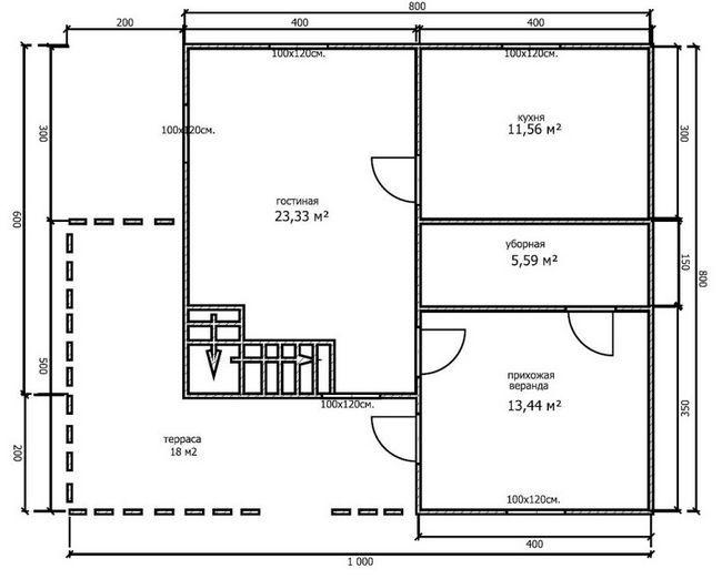 Hiša načrt 8x8