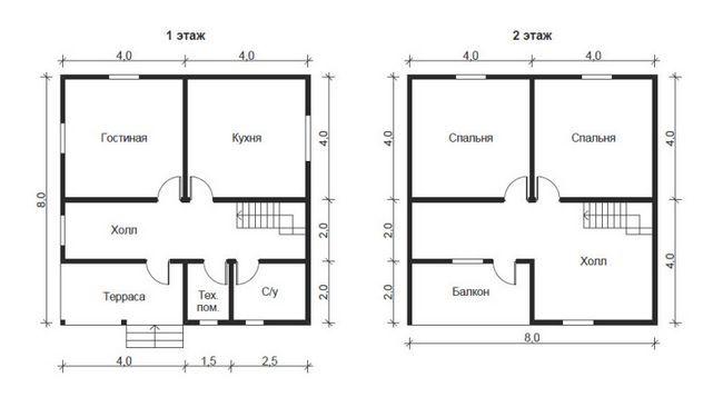 Hiša 8x8