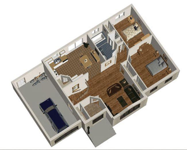 Casa cu doua dormitoare