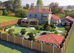 Планировка загородного участка в 15 соток с домом и садом