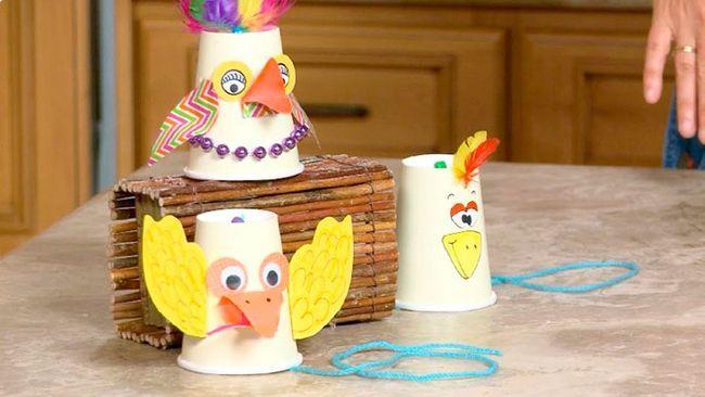 Детские игрушки из стаканчиков