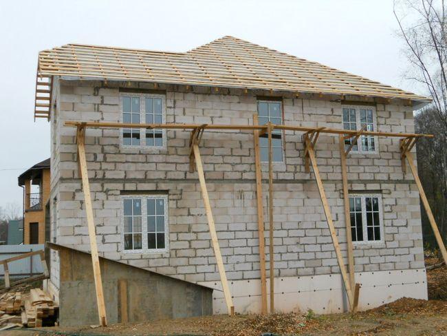 Hiša pene gradnje bloka