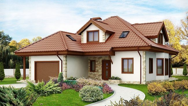 Hiša pene blokov z garažo
