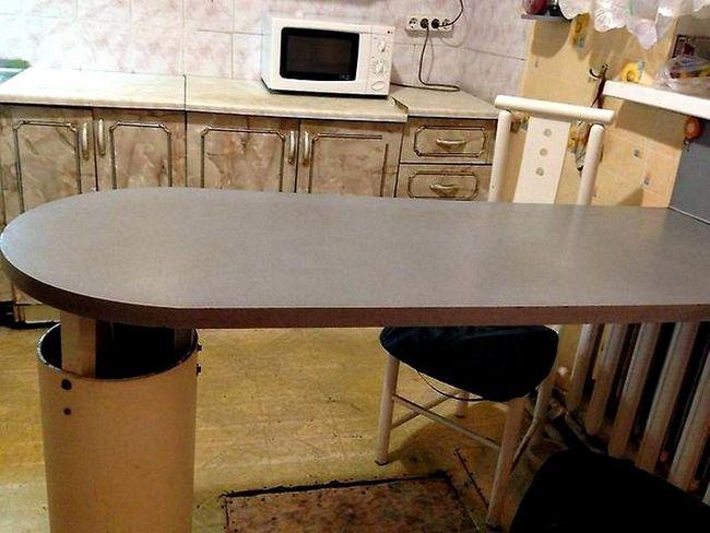 Obrezovanje Kuhinjska miza oval