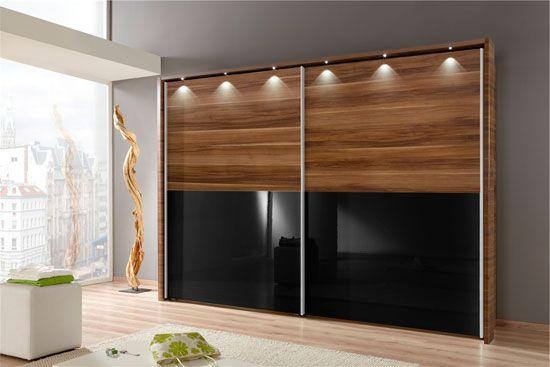 Drsna vrata za garderobni v obliki lesa v kombinaciji s steklom