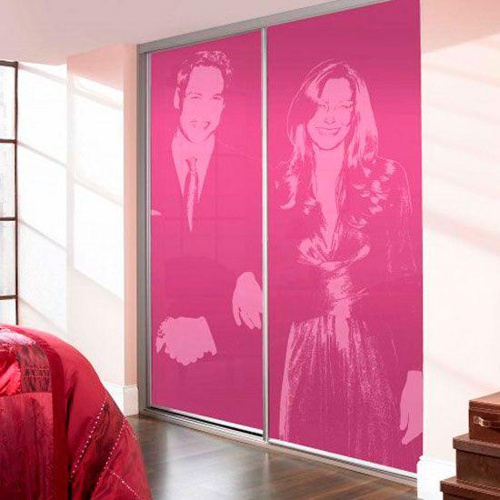 Dekor omaro drsna vrata za uporabo UV tiskanje