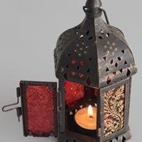 Slikarstvo Glass: Vintage svečnik v orientalskem slogu
