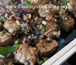 Стир фрай с пророщенной фасолью в воке по-китайски