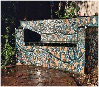 Garden klopi mozaik in kamen