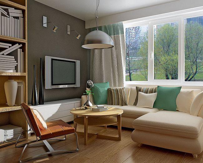 notranjost majhno dnevno sobo