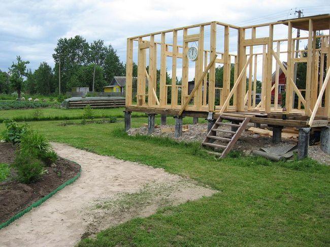 Lesena hiša gradnja