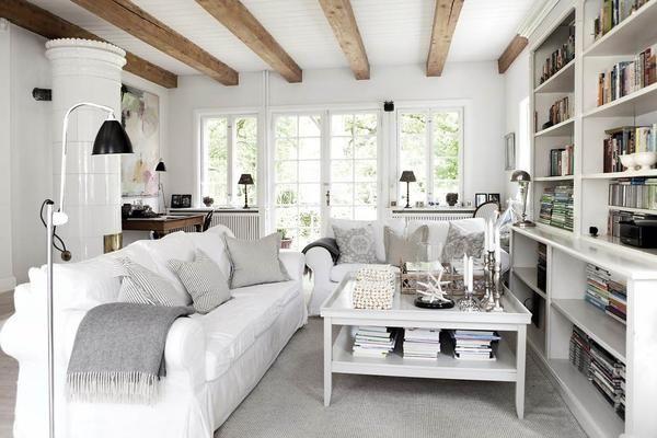 Prijetna koča Notranjost je primer Vrtne na Danskem