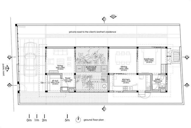 čudovito hišo z notranjim atriumom27
