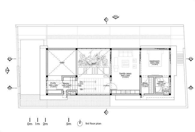 čudovito hišo z notranjim atriumom28