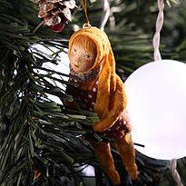 Vintage Božični okraski iz volne