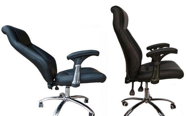 Izbira pisarniški stol s kolesi in udobno naslonjalo