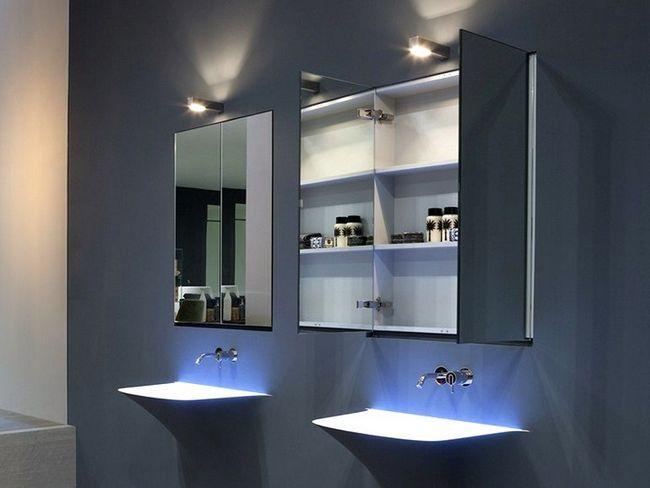 Ogledalo v kopalnici s svetlobo - kako izbrati ideal?