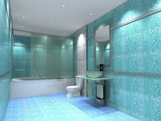 Liquid ozadje v kopalnici: najboljša rešitev
